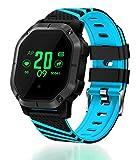 Fitness Tracker Smartwatch für iOS Android, VNEIRW 1.0inch TFT Farbdisplay Bluetooth Wasserdicht Sportuhren Intelligente Uhr mit Blutdruck Herzfrequenzmesser (Bildschirm:1,0 Zoll, Blau)