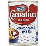 Nestle la leche evaporada Carnation Topping 12 x 410gm