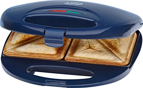 Clatronic ST 3477 - Sandwichera para 2 sandwiches, antiadherente, 750 W, color azul