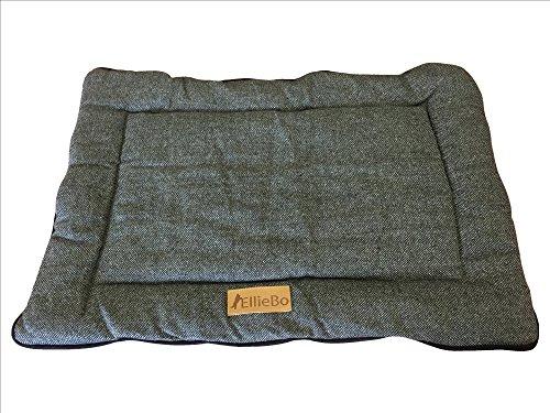 Ellie-Bo wendbar Tweed und Kunstfell, Grau Matte Bett für mittlere 76,2cm Hund Puppy Käfige und Kisten
