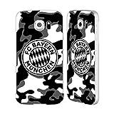 Head Case Designs Offizielle FC Bayern Munich Camouflage 2017/18 Muster Silber Rahmen Hülle mit Bumper aus Aluminium für Samsung Galaxy S6
