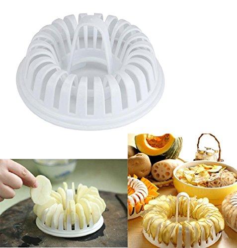ZEZKT-Home DIY Mikrowellen Kartoffel- Chips- Maker Kartoffelchips-Werkzeug-Set,Schneiden und Backen von Kartoffelchip (Backen Mikrowelle)