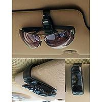 Soporte para visera de coche y gafas de sol para coche y camión Clip de Tarjeta de Boleto(negro)