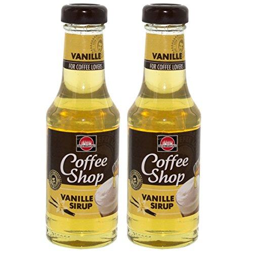 Schwartau Coffee Shop Vanille Sirup, für Kaffee, Dessert und Cocktails,2er Pack, 2 x 200ml