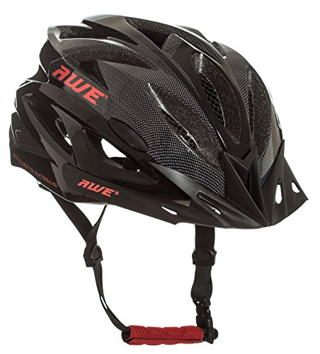 Price comparison product image AWE® AWEAir™ FREE 5 YEAR CRASH REPLACEMENT* In Mould Adult Mens Cycling Helmet 58-61cm Black, Carbon