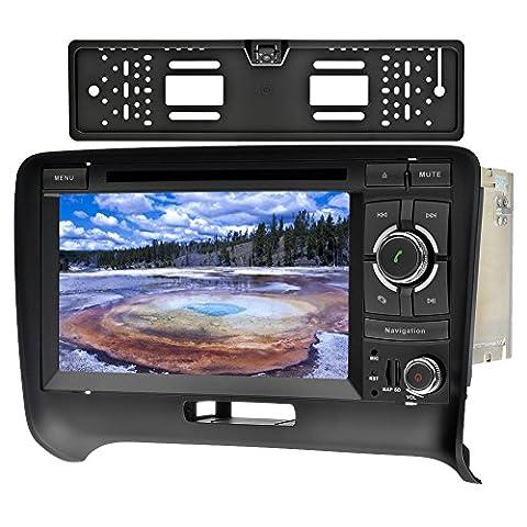 SAVORI Wince 7 Zoll Capacitive Touchscreen Audi TT (2006-2015) 2 din In Dash Autoradio Moniceiver DVD GPS Navigation Freisprechfunktion Support Bluetooth WIFI Software USB inkel