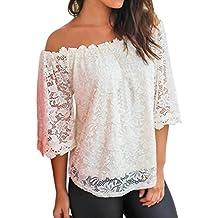 Yeamile Camiseta de Mujer Tops Suelto Blusa Causal Camisetas Ocasionales Tops de