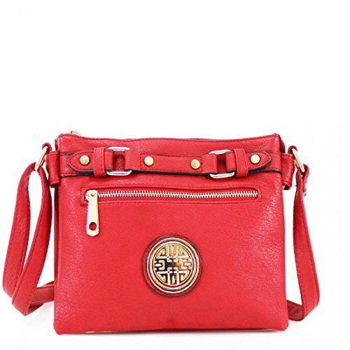 Elegant, Borsa tote donna M Red