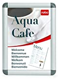 Nobo - Stand d'Affichage Clipsable, Cadre Aluminium, A4 (248x370x17 mm)
