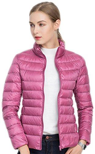 Santimon Donna Giacche Corto Piumino Cappotto Ultraleggeri Trapuntato Packable Inverno Giacca (M, Rosa)