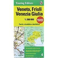 Veneto, Friuli Venezia Giulia 1:200.000. Carta stradale