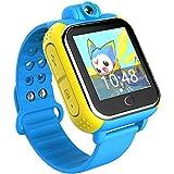 TURNMEON Q8 Kids smart watch SmartWatch Para Niños Reloj Inteligente Infantil Pulsera Localizador base on Android 4.2 WIFI,GPS, LBS, SOS Llamada SIM Para Android iPhone IOS (Azul)