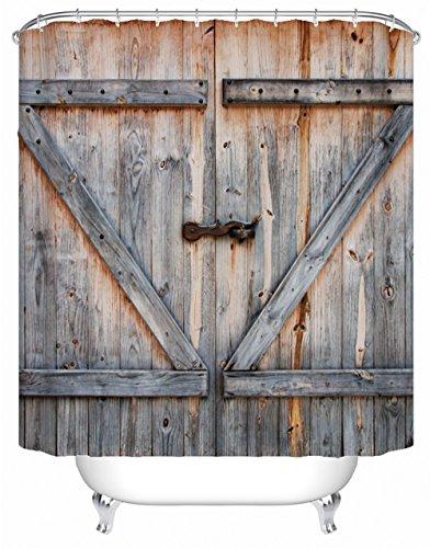 DAFENP Duschvorhang Waschbar Wasserdichter Anti-Schimmel,Duschvorhang inkl.8 Kunststoffhakens,Duschvorhang Polyester (180cm x 180cm,Eine Vielzahl von Mustern) (style10-1)