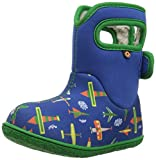 Bogs Boys Baby Plane Blue Multi Insulated Washable WARM Wellies Boots 722991-UK 8 (EU 25)