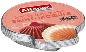 Alfapac - 5512 - Barquette Aluminium - 6 Coquilles St Jacques - Lot de 6