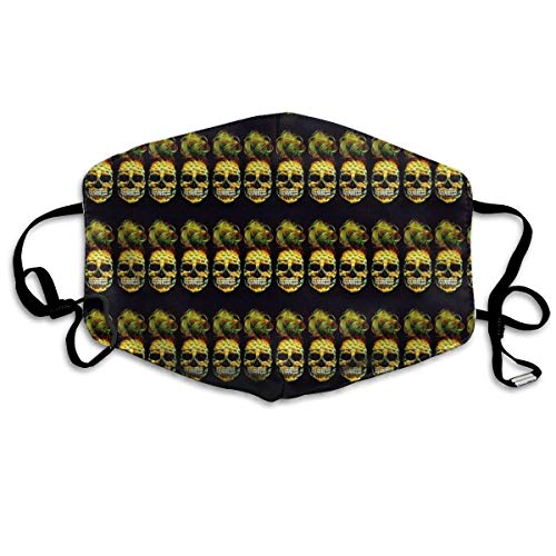 WBinHua Masken, Masken für Erwachsene, Mask Face, Mouth Mask, Pineapple Skull Art Unisex Dust Allergy Flu Masks Cover Warm Respirator Germ Protective Breath Breath Healthy Safety Mouth Masks Skull Deluxe Maske