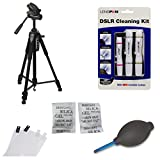 Tripod Accessory Kit for Nikon D5300 Including Photron Tripod Steady Pro 560 , Lenspen Elite Kit, Lenspen HB-1 Blower, Screen Protector and Silica gel ( 20 Packs of 5 gm each)