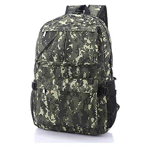 Camouflage Sac à dos Sac bandoulière Sac de sport schoolbags Randonnée Sac à dos, vert (Vert) - SFPONGG70003A Digital Deep Green
