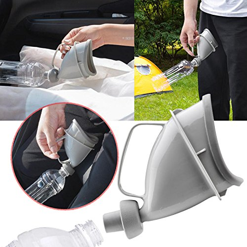 Duoying 2017 Unisex Tragbare Mobile Urinal Trichter Auto Reise Griff Urinflasche
