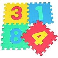 10 Pcs Baby Puzzle que bloquea la estera suave del juego de la gimnasia de la actividad de la espuma Alfombrillas de piso, números - Peluches y Puzzles precios baratos