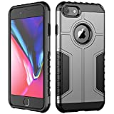 JETech Coque iPhone 8 et iPhone 7, Double Protection avec Shock-Absorption, Argent