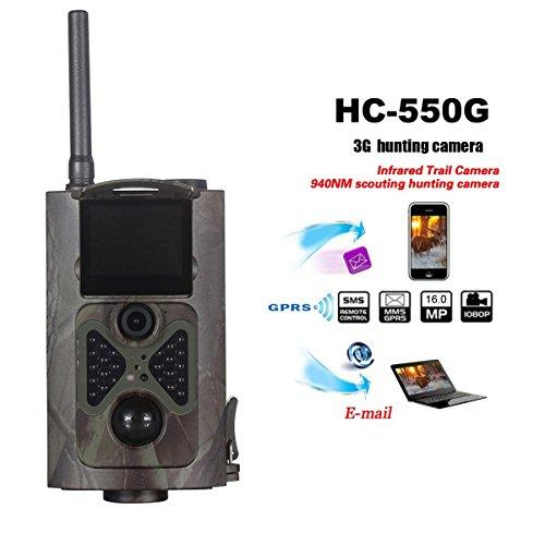 hc-550g 3G 16MP 1080P HD Infrarot-Spiel & Trail Kamera IR LEDs 120° Weitwinkel Nachtsicht 5,1cm LCD Display Wasserdicht Jagd Pfadfinder Kamera Digital Überwachungskamera für die 3G/2G GSM/MMC/SMT 3g Lcd