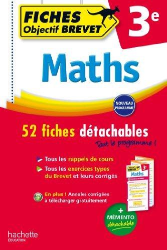 Objectif Brevet Fiches Détachables Maths de Paul Fauvergue (4 février 2015) Broché