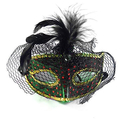 QTJKH Horror Maske Venezianische Maskerade Spaßspitze-Maskenbachelorette Kennzeichnete Halloween-Partyversorgungen Shower @ I