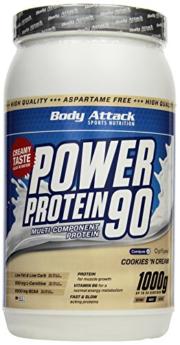 Body Attack Power Protein 90, Cookies und Cream, 1kg Dose