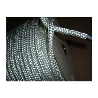 Seil 5 mm x 100 m weiss, 440 kg Reißkraft, geflochten, hochflexibel, wasserfest. PES Polyester Flechtleine als Universalseil, Schnur, Nylonseil. Länge 100 Meter lang. TOP-Qualität deutsche Produktion