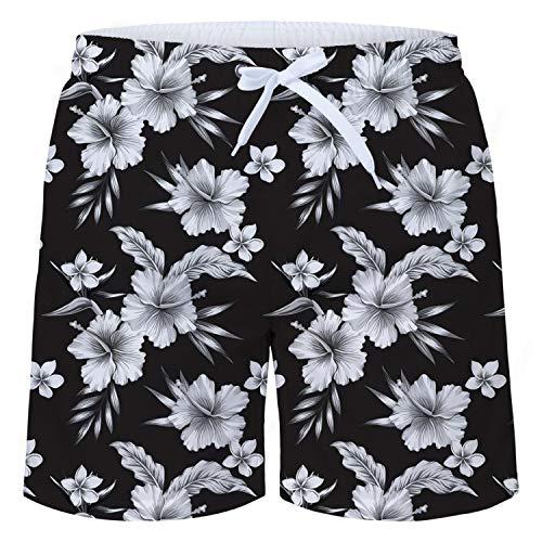 93c9cdec4a58 TUONROAD Bañadores para Hombre Impresión 3D Blanco Floral Bañador de  Natación Pantalones Cortos Secado Rápido Traje de Baño Swim Shorts Ligero  Baño ...