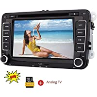 Eincar 2 DIN lettore DVD per Volkswagen Jetta Golf Passat Polo Beetle Touran con touch screen digitale da 7 pollici Stereo 8 GB di navigazione GPS per auto Mappa Autoradio Bluetooth Radio Auto Aux USB / SD CanBus FM / AM / RDS lettore + TV analogica - Vw Turbo Systems