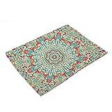 YUANLINGWEI Geometrische Drucken Baumwolle West Tischset Für Die Wolldecke Auf Den Tisch Küche Zubehör Pads 4 Pcs (42,13 X 32 cm).