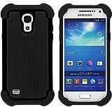 Samsung Galaxy I9195 S4 Mini Case Outdoor Cover Hybrid Schutz Hülle Sturz Bumper Displayschutzfolie Folie Schwarz Black