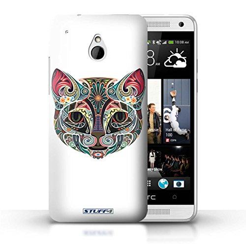 Kobalt® Imprimé Etui / Coque pour HTC One/1 Mini / Chouette conception / Série Animaux décoratifs Chat