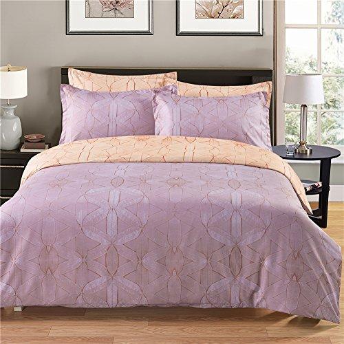 lkklily-bedding Textil Betten Tencel Drei Stück 2Kissenbezüge 1Quilt, camel, Queen (Shabby Chic Tröster Set)
