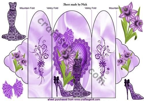 Viola Pizzo Vestito, e viola Narcisi, Trifold by Nick Bowley