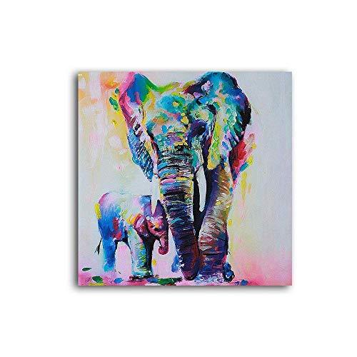 Hianiquaime® Cuadro Elefante Sobre Lienzo Estirado