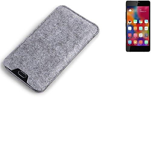 K-S-Trade Filz Schutz Hülle für Gionee Elife S7 Schutzhülle Filztasche Filz Tasche Case Sleeve Handyhülle Filzhülle grau