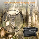 6-1000M Hunting Golf Rangefinder Telescope 6X Magnification +/- 1 M Accuracy Speed Measure