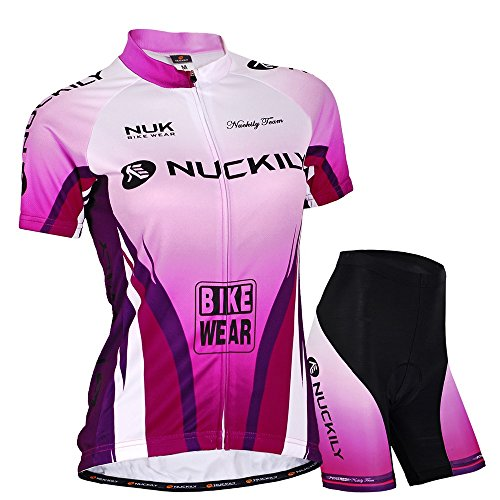 Nuckily Damen-Fahrradtrikot Purple Lover Design Road Bike Training tragen Medium violett