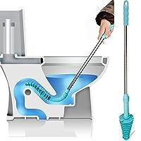 Toiletten-Plunger mit leistungsfähigem gereinigtem Toiletten-Rohr - XREXS Rohrreiniger Abflussreiniger Toiletten-Ausbagger entwarf für Saugheber-Art, umweltfreundlicher, rostfreier Stahl-Handgriff-Abf