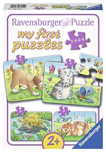 Preisvergleich Produktbild Ravensburger 06951 - Niedliche Haustiere, my first puzzles 2,4,6,8 Teile