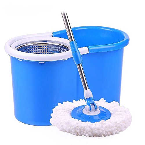 ballino spin mop and stainless steel 360 spinning mop bucket u0026 3 microfibre mop heads