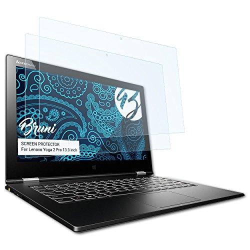 Bruni Schutzfolie für Lenovo Yoga 2 Pro (13.3 inch) Folie - 2 x glasklare Displayschutzfolie