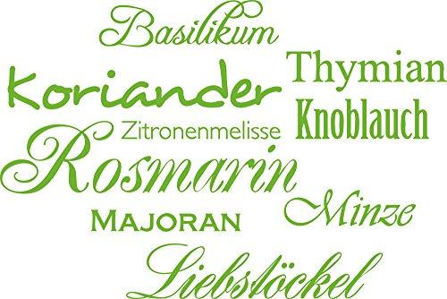 GRAZDesign Küchen Wandtattoo Kräuter - Sprüche für die Küche Gewürze - Wandsticker Küche...