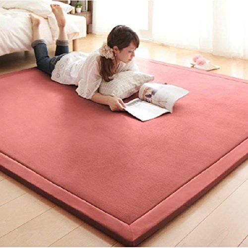 #Wohnzimmer Teppich 2CM Thick Coral Fleece Matte Teppich 180 * 200 * 2CM Teetisch Manuell Schlafzimmer Teppich Rechteck Wohnzimmer Teppich...