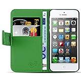 JAMMYLIZARD Lederhülle für iPhone SE und iPhone 5 / 5s | Ledertasche [ Classic Wallet Tasche Series ] Leder Book Case Hülle F