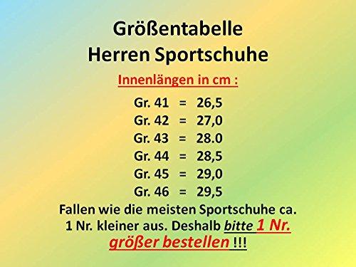 GIBRA Herren Sportschuhe, sehr leicht und bequem, neonorange/neongrün, Gr. 41-46 neonorange/neongrün