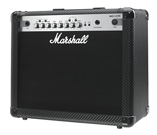 Marshall MG4 Carbon Series MG30CFX 30 Watt Guitar Combo Amplifier 1x10 Combo with 4 Programmable Channels, Effects, MP3 Input